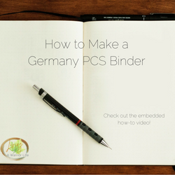How to Make a Germany PCS Binder